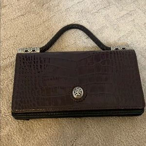 Brighton brown Leather Wallet with handle